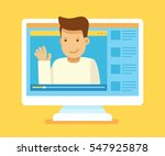 vector illustration in modern... | Shutterstock .eps vector #547925878