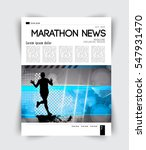 sport layout magazine  vector | Shutterstock .eps vector #547931470