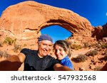 middle age couple taking a... | Shutterstock . vector #547932568