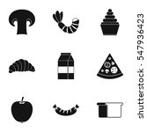 morning breakfast icons set.... | Shutterstock . vector #547936423