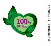 vector  eco  tag  badge  label... | Shutterstock .eps vector #547938778
