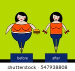 woman with hamburger and woman... | Shutterstock .eps vector #547938808