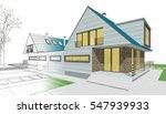 townhouse  3d illustration | Shutterstock . vector #547939933