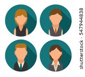 set icon male and female faces... | Shutterstock .eps vector #547944838