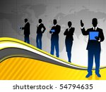 business team on world map... | Shutterstock .eps vector #54794635