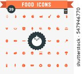 set of 39 food icons | Shutterstock .eps vector #547946770