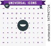 set of 97 universal icons