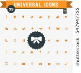 set of 39 universal icons  | Shutterstock .eps vector #547947733
