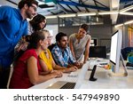 casual business team working on ...   Shutterstock . vector #547949890