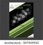 annual business report cover... | Shutterstock .eps vector #547949920