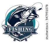 Bass Fishing Logo Isolated On...