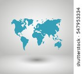 world map illustration vector | Shutterstock .eps vector #547953334