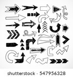 doodle sketch arrows isolated... | Shutterstock .eps vector #547956328