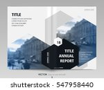 cover design annual report... | Shutterstock .eps vector #547958440