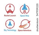 rocket outer space spacecraft... | Shutterstock .eps vector #547959220