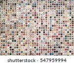 old colorful ceramic mosaic... | Shutterstock . vector #547959994