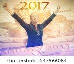 2017 doble exposure portrait of ... | Shutterstock . vector #547966084