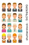 set icon character cook ... | Shutterstock .eps vector #547969090