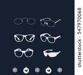 set of classic glasses. | Shutterstock .eps vector #547970068