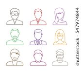 human portrait icons outline... | Shutterstock .eps vector #547974844