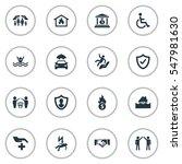 set of 16 simple insurance... | Shutterstock .eps vector #547981630