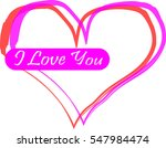 i love you vector | Shutterstock .eps vector #547984474