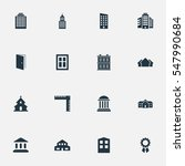 set of 16 simple construction... | Shutterstock . vector #547990684