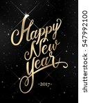happy new year golden hand... | Shutterstock .eps vector #547992100