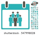 staff calendar day pictograph... | Shutterstock .eps vector #547998028