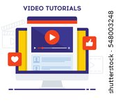 video tutorials icon concept.... | Shutterstock .eps vector #548003248