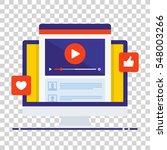 video tutorials icon concept.... | Shutterstock .eps vector #548003266