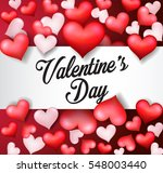 happy valentine's day red heart | Shutterstock .eps vector #548003440
