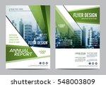 greenery brochure layout design ...   Shutterstock .eps vector #548003809
