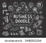 set of business doodle on... | Shutterstock .eps vector #548005204