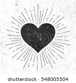 heart symbol with sunburst on... | Shutterstock .eps vector #548005504