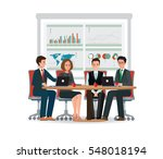 business people meeting at a... | Shutterstock .eps vector #548018194