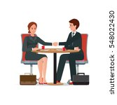 businessman and business woman... | Shutterstock .eps vector #548022430