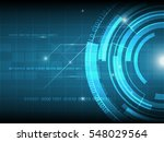 abstract blue circle digital... | Shutterstock .eps vector #548029564