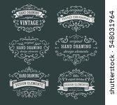 hand drawing vintage frame | Shutterstock .eps vector #548031964