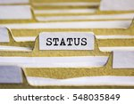 Status word on card index paper