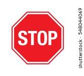 a plain vector stop sign over a ... | Shutterstock .eps vector #548044069