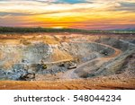 aerial view of opencast mining... | Shutterstock . vector #548044234