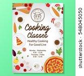 cooking classes poster design... | Shutterstock .eps vector #548045050