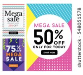 modern sale banner set ... | Shutterstock .eps vector #548051578