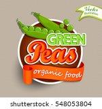 green peas logo lettering... | Shutterstock .eps vector #548053804