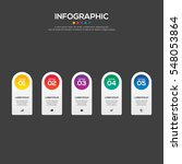 5 options infographic business... | Shutterstock .eps vector #548053864