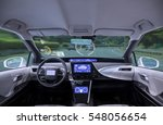 empty cockpit of vehicle  hud... | Shutterstock . vector #548056654