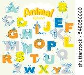 Cute Animal Alphabet. A To Z....