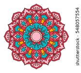 mandala. ethnic decorative... | Shutterstock .eps vector #548057554