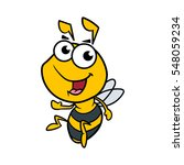 friendly cartoon bee vector... | Shutterstock .eps vector #548059234
